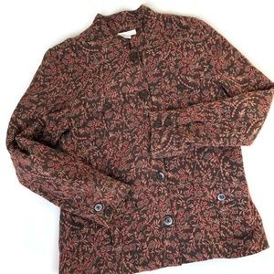 FINAL SALE Charter Club Floral Jacquard Jacket L